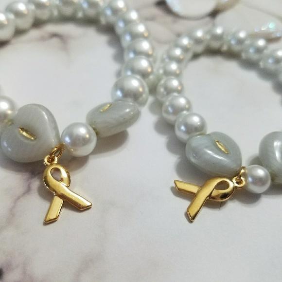 Handmade Jewelry Childhood Cancer Awareness Bracelets For